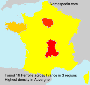 Surname Perrolle in France