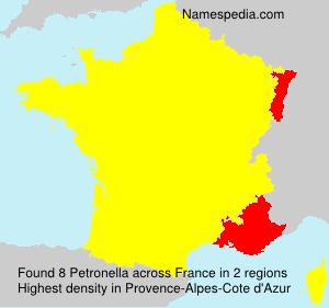 Surname Petronella in France