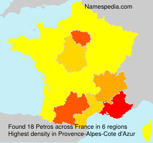 Surname Petros in France