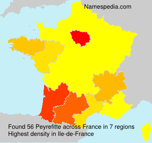 Surname Peyrefitte in France