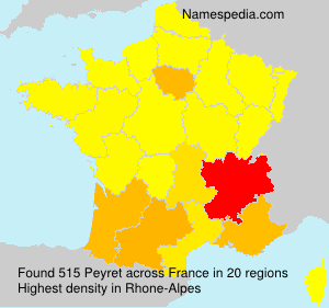 Surname Peyret in France