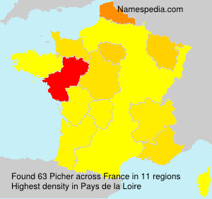 Surname Picher in France