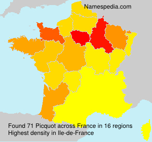 Surname Picquot in France