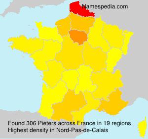 Familiennamen Pieters - France