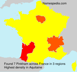 Surname Pinkham in France