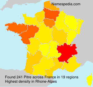 Surname Pitre in France