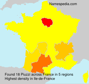Surname Piuzzi in France