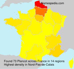 Surname Plancot in France