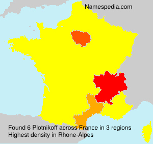 Surname Plotnikoff in France