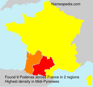 Surname Podenas in France