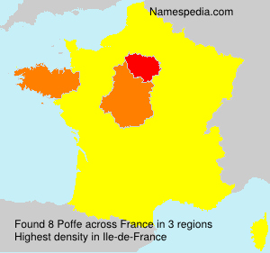 Surname Poffe in France