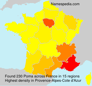 Surname Poma in France