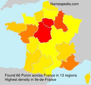Surname Poron in France