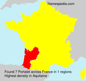 Surname Portalet in France