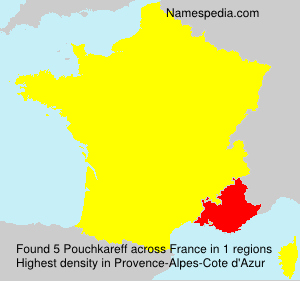 Surname Pouchkareff in France