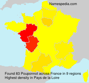 Surname Pouponnot in France