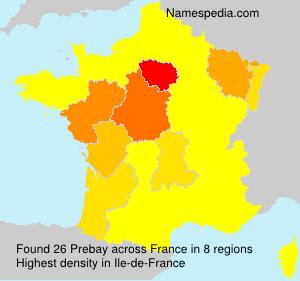 Surname Prebay in France