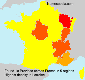 Surname Preziosa in France