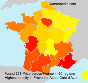 Familiennamen Price - France