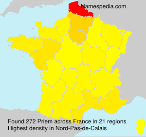 Surname Priem in France