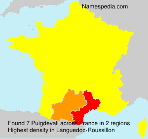 Surname Puigdevall in France