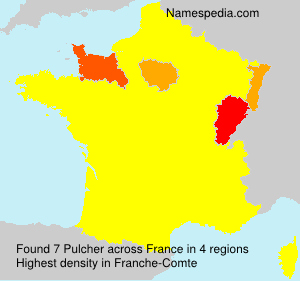 Surname Pulcher in France