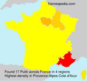 Familiennamen Puliti - France