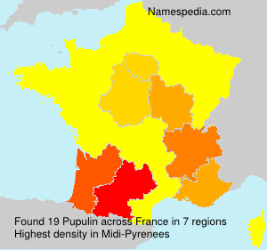 Surname Pupulin in France