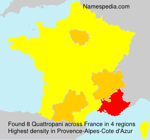 Surname Quattropani in France