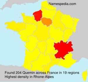 Surname Quemin in France