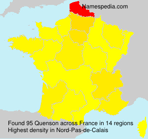 Surname Quenson in France