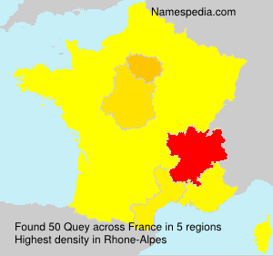 Surname Quey in France