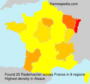 Surname Rademacher in France