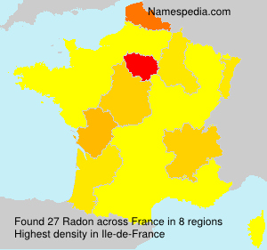 Familiennamen Radon - France