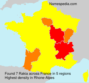 Surname Rakia in France