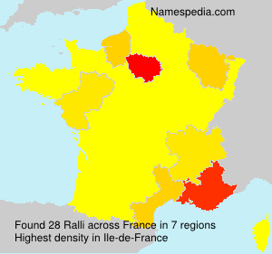 Surname Ralli in France