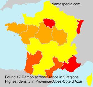 Surname Rambo in France
