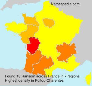 Surname Ransom in France