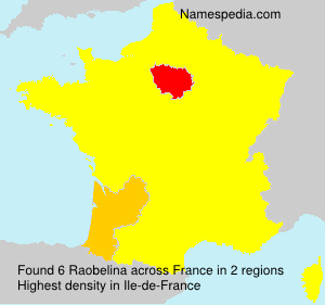 Surname Raobelina in France