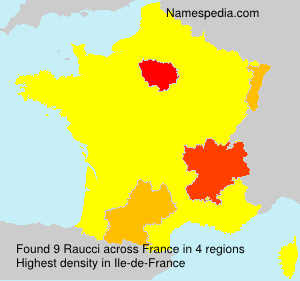 Surname Raucci in France