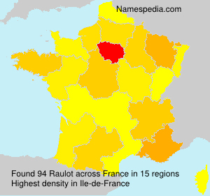 Surname Raulot in France