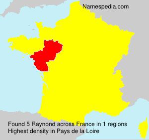 Surname Raynond in France