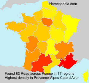 Surname Read in France