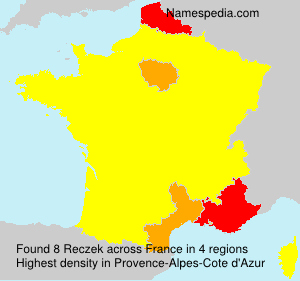 Surname Reczek in France