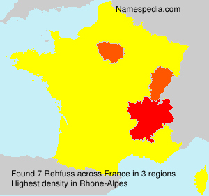 Surname Rehfuss in France