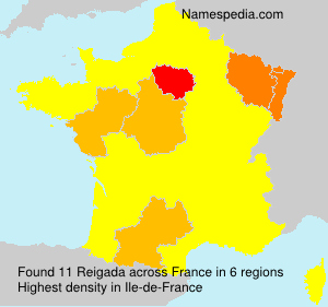 Surname Reigada in France