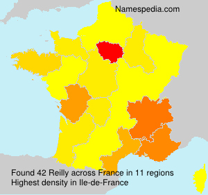 Surname Reilly in France
