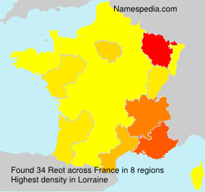 Surname Reot in France