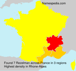 Surname Rezelman in France