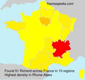 Familiennamen Richerd - France